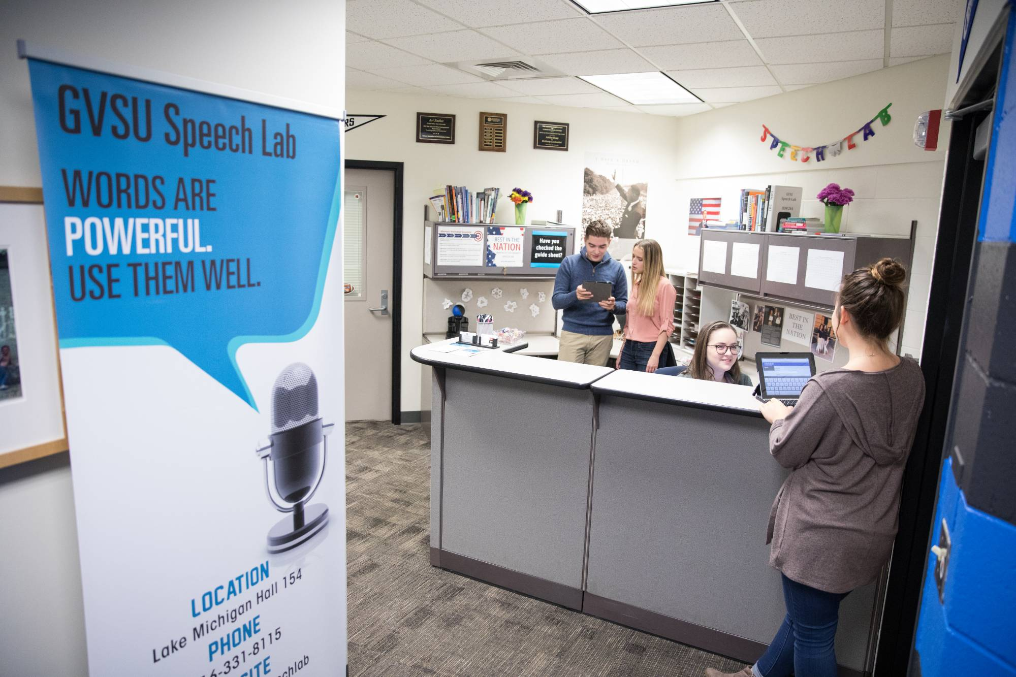 The GVSU Speech Lab can help you write speeches for courses